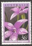 Sellos de Oceania - Australia -  Orquidea