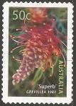 Sellos de Oceania - Australia -  grevillea superb 1981