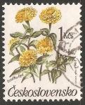 Sellos de Europa - Checoslovaquia -  zinnia elegans ( Rosa mística, Flor de papel)