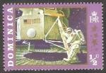 Stamps : America : Dominica :  286 - Primer paso sobre la Luna