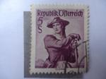 Stamps Austria -  Trajes Regionales.