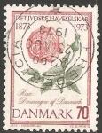 Sellos de Europa - Dinamarca -  CENTENARIO DE LA SOCIEDAD HORTICOLA DE JUTLAND (Rhododendron, Rosa