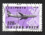 Sellos de Europa - Hungría -  Airpost . Aviones, Aerolíneas y Mapas