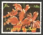 Sellos de Asia - Emiratos Árabes Unidos -  Fuyaira flores