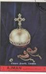 Stamps United Arab Emirates -  corona y joyas