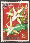 Sellos de Africa - Guinea Ecuatorial -  angraecum sesquipedale (orquidea)