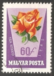 Sellos del Mundo : Europa : Hungría : Tea hibrid (Rosa)