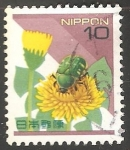 Sellos de Asia - Japón -  Flores