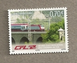 Sellos de Europa - Luxemburgo -  50 Años electrificación Trenes