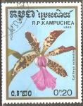 Sellos de Asia - Camboya -  Cattleya aclandiae (Orquidea)