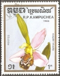 Stamps Cambodia -  Ophrys apifera (Orquidea abeja)