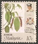 Sellos de Asia - Malasia -   Piper nigrum (Pimienta común)
