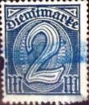 sello : Europa : Alemania : Intercambio mas 1,90 usd 2 mark. 1920