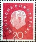 Sellos de Europa - Alemania -  Intercambio 0,20 usd 20 pf. 1959