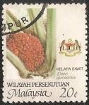 Sellos del Mundo : Asia : Malasia : palma aceitera