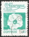 Stamps Nicaragua -  Thunbergia alata