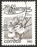 Stamps Nicaragua -  Bixa orellana
