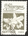 Sellos del Mundo : America : Nicaragua : Cattleya lueddemanniana Orquidea
