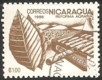 Stamps : America : Nicaragua :  Reforma agraria- Tabaco