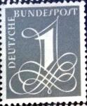 Sellos de Europa - Alemania -  Intercambio 0,20 usd 1 pf. 1955