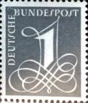 Sellos del Mundo : Europa : Alemania : Intercambio 0,20 usd 1 pf. 1955