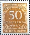 Sellos de Europa - Alemania -  Intercambio jxi 0,20 usd 50000 m. 1923