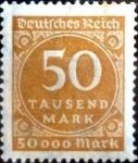Sellos del Mundo : Europa : Alemania : Intercambio 0,20 usd 50000 m. 1923