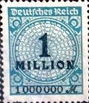 Sellos de Europa - Alemania -  Intercambio 0.20 usd 1000000 m. 1923