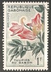 Sellos del Mundo : Africa : Gabón :  tulipán Gabón