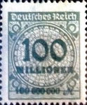 sello : Europa : Alemania : Intercambio mas 0.20 usd 100000000 m. 1923