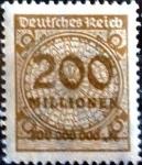 sello : Europa : Alemania : Intercambio mas 0.20 usd 200000000 m. 1923