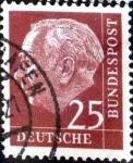 Stamps Germany -  Intercambio 0,40 usd 25 pf. 1954