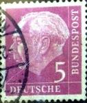 Sellos de Europa - Alemania -  Intercambio 0,20 usd 5 pf. 1954