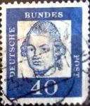 Stamps Germany -  Intercambio 0,20 usd 40 pf. 1961