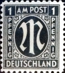 Sellos de Europa - Alemania -  Intercambio jxi 0,20 usd 1 pf. 1945