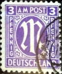 Stamps Germany -  Intercambio 1,10 usd 3 pf. 1945
