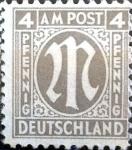 Sellos de Europa - Alemania -  Intercambio 0,20 usd 4 pf. 1945