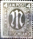 sello : Europa : Alemania : Intercambio mas 0,60 usd 4 pf. 1945