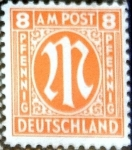 Stamps Germany -  Intercambio 2,00 usd 8 pf. 1945