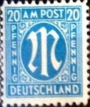 Sellos de Europa - Alemania -  Intercambio jxi 0,20 usd 20 pf. 1945