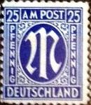 Sellos de Europa - Alemania -  Intercambio mas 0,20 usd 25 pf. 1945