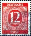 Stamps Germany -  Intercambio 0,20 usd 12 pf. 1946