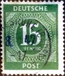 Stamps Germany -  Intercambio nfxb 0,20 usd 15 pf. 1946