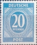 Sellos de Europa - Alemania -  Intercambio mas 0,20 usd 20 pf. 1946
