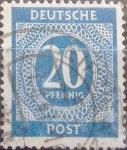 sello : Europa : Alemania : Intercambio mas 0,20 usd 20 pf. 1946