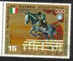 Sellos del Mundo : Africa : Guinea_Ecuatorial :  Juegos Olímpicos de Verano 1972 , Munich : Jinetes