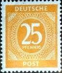 Sellos de Europa - Alemania -  Intercambio ma3s 0,20 usd 25 pf. 1946