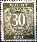 Sellos del Mundo : Europa : Alemania : Intercambio mas 0,20 usd 30 pf. 1946