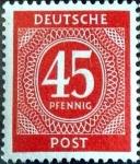 Sellos de Europa - Alemania -  Intercambio nfxb 0,20 usd 45 pf. 1946