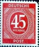 sello : Europa : Alemania : Intercambio mas 0,20 usd 45 pf. 1946